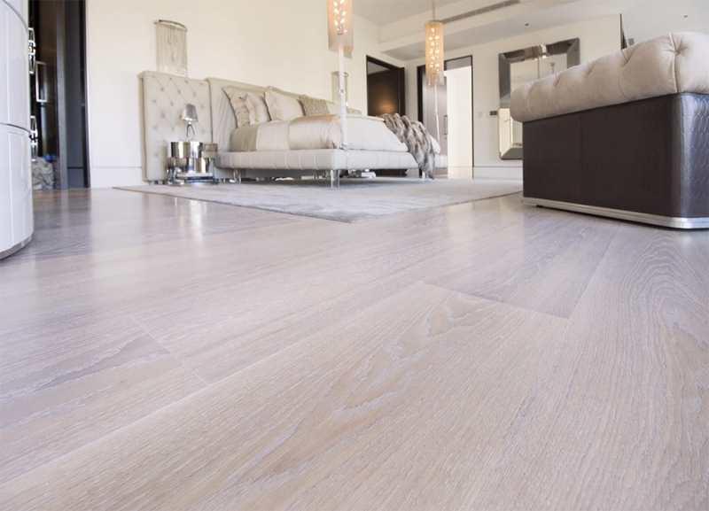European Oak Wood Flooring Used in Luxury Beverly Hills Home