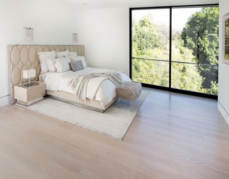 Bedroom with European Oak Hardwood Flooring