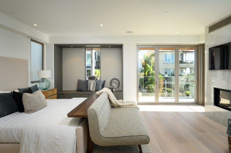 Bedroom Interior of Luxury Home in Manhattan Beach