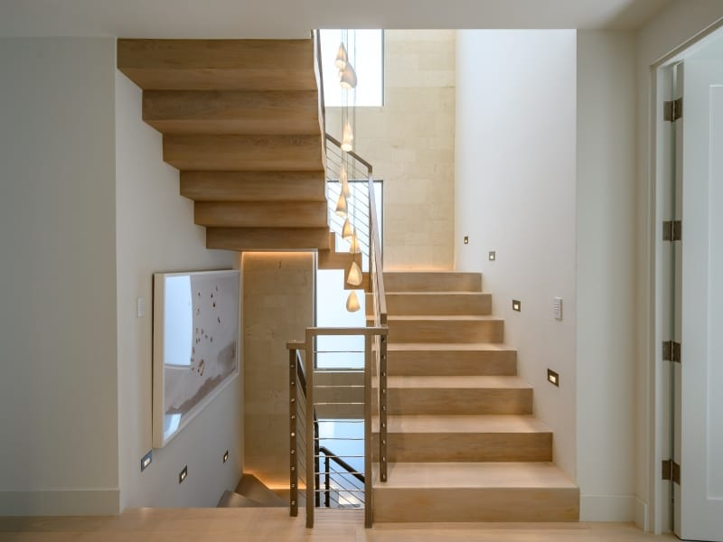Custom Floating Stair Case for Luxury Home