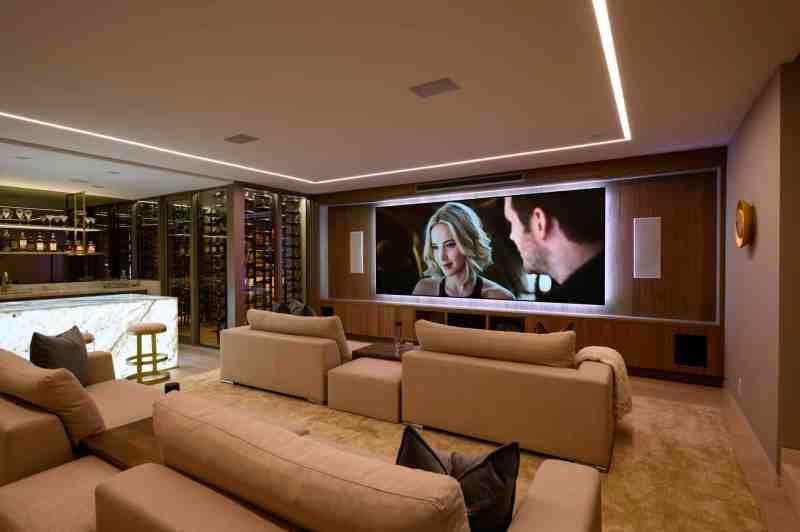In Home Theater On European Oak Flooring