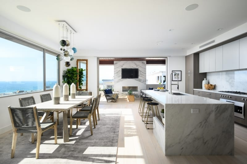 Dining Room Area and Kitchen of Luxury Beach Home