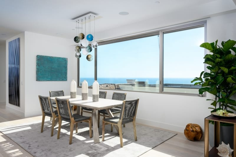 Dining Room Table with Ocean Panoramic View