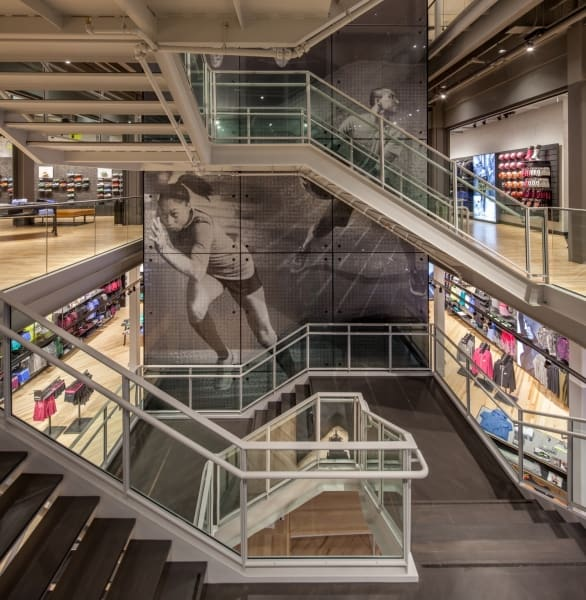 Nike Store The Grove Staircase Multi-level
