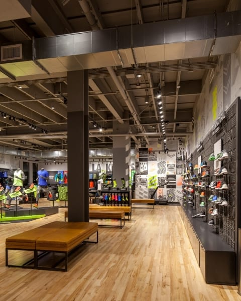 Nike Store The Grove Shoe Area