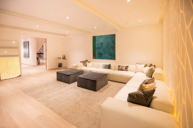 Interior Living Room of Luxury Home on San Vicente
